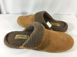 Deer Stags Men's Slippers Size 12 Clog Style~Tan Corduroy~Hi