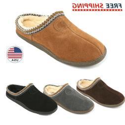 Men's Warm Slippers Suede leather Indoor Outdoor Sheepskin C