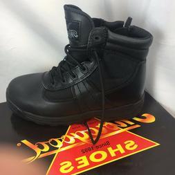 "Thorogood Men's Women's Black Leather 6"" Side Zip DEUCE Unif"