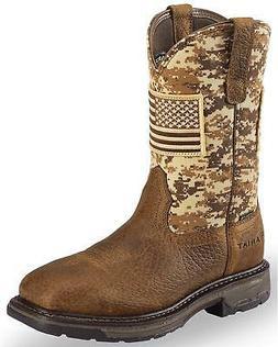 Ariat Men's Workhog Patriot Western Boot - Steel Toe  - 1002