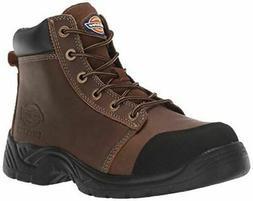 """Dickies Men's Wrecker 6"""" Steel Toe EH Industrial Boot, Brown"""