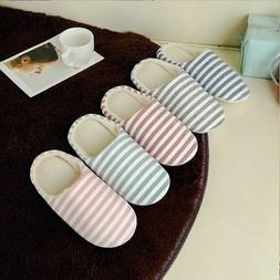 Men Women House Indoor Slippers Home Winter Warm Cotton Anti