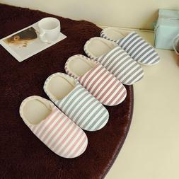 Men Women House Indoor Slippers Home Winter Warm Cotton Shoe
