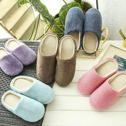 Men Women Soft Touch Warm Indoor Slippers Mute House Home An