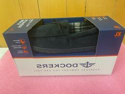 Men's Black Dockers Slippers With Memory Foam, Size: XL