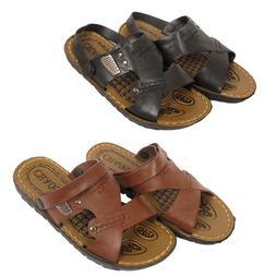 mens boys sandals faux leather summer fashion