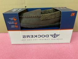 Men's Brown Dockers Slippers With Memory Foam, Size: XL