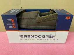 Men's Brown Dockers Slippers With Memory Foam, Size: XXL