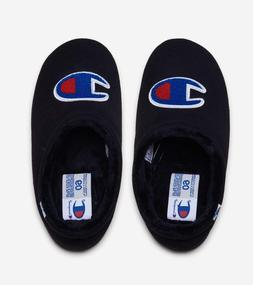 Mens Champion Logo Shuffle Slippers Shoes Black Blue Red Whi