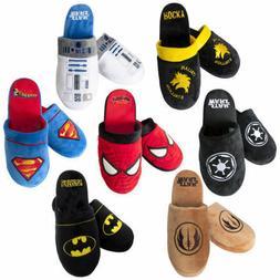 Mens Mule Slippers - Batman Superman Captain America