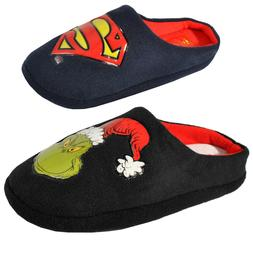 Mens Original DC Comics Mule Superman Grinch Slippers Novelt