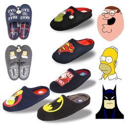 Mens DC Comics Original Mule Slippers Novelty Batman Slip On
