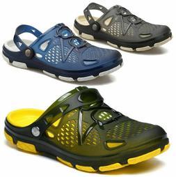 Mens Slip On Garden Mules Clogs Shoes Sports Sandals Beach W