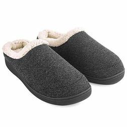 Men's Slippers Fuzzy Wool Fleece Lining Warm Slip On House