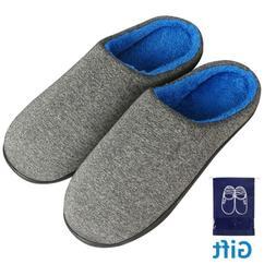 Men's Slippers Memory Foam Slippers Cozy Anti-Slip House S