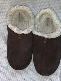 Columbia Men's Suede Slippers Size 10 YM1405-248