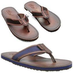 Polo Ralph Lauren Mens Sullivan Leather Flip-Flop Slipper Sa