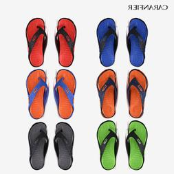 CARANFIER Mens Summer Beach Flip Flops Slippers Sandal Fashi