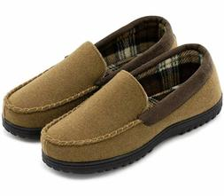 Men&Rsquo;S Wool Micro Suede Moccasin Slippers House Shoes I