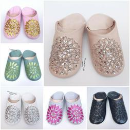 Moroccan Berber babouche for women and girls, leather shoes,
