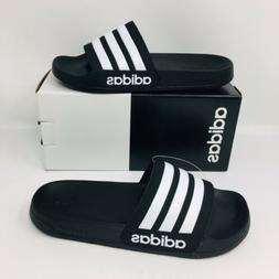 *NEW* Adidas Adilette Shower Men Slide Black Slippers Flip F