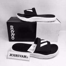 *NEW* Adidas Alpha Bounce Men Slides All Sizes Black White S
