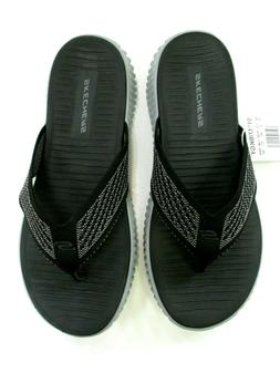 New! Skechers Elite Flex Highcoast Slippers Men's Black/Gray