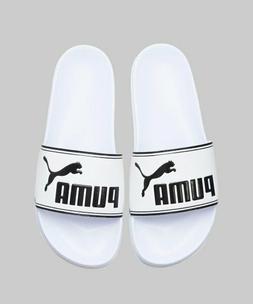 New Puma Leadcat Slides - White Beach Swim Slippers Sandals