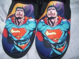NEW MEN'S SUPERMAN HOUSE SHOES  SLIPPERS  Size 9 New DC COMI