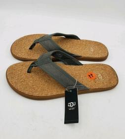 NEW UGG  Mens Seaside Beach Flip Flop Thong Seal Gray Sandal
