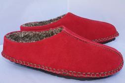 New 1901 Mens Shoes Slippers Red Size 8 Wool Dakota Slip One