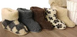 New Women's Men's 100% Sheep  Wool Boot-Style Snug Sheepskin