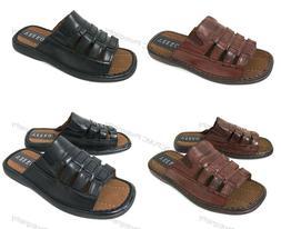 NIB Men's Slides Sandals Open Toe Casual Fisherman Fashion S