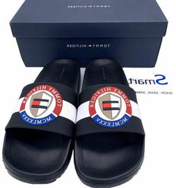 NIB SIZES 12-13 MEN Tommy Hilfiger Logo USA Slides Sandals S