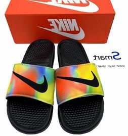 NIB SIZES 9-13 MEN Nike Benassi JDI Logo Tie Dye Print Slide