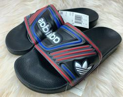 NWT NEW ADIDAS MEN ORIGINAL ADILETTE BLACK SLIPPER SLIDE SAN