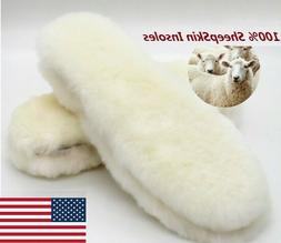 Real Sheepskin Pads Insoles Shoe inserts Slippers Boots Wome