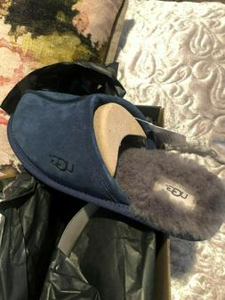 UGG SCUFF Blue Mens Size 8 Slippers Shoes...Brand new in box