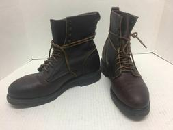 Red Wing Steel Toe Brown Men's Boots Size 9 D