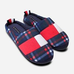 Tommy Hilfiger Tartan Warm Slippers in Red White & Blue