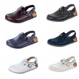 Birkenstock Tokio Tokyo Leather Work Shoes Clogs Super Grip