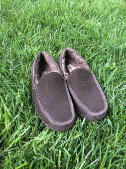 Ugg Men's Ascot Moccasin Slippers Size 10 MED Brown Suede Wo