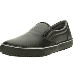 Tredsafe Unisex Black Leather Ric Slip Resistant Shoes, Mens