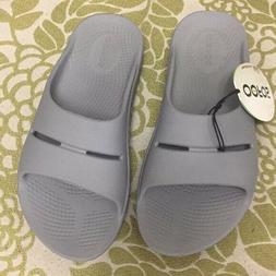 OOFOS Unisex Ooahh Slide Sandal Style #1100 STEEL GIRLS 4 /
