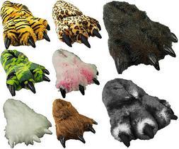 Mens Womens Unisex Soft Plush Fun Winter Animal Claw Paw Fee