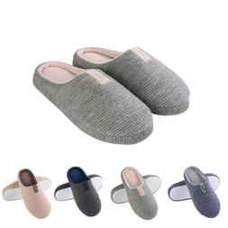 Aerusi Women Men Winter Warm Soft Slip On Slippers Memory Fo