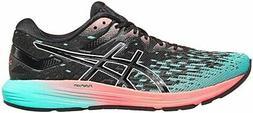 ASICS Women's Dynaflyte 4 Running Shoes, Black/ICE Mint, 10