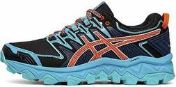 ASICS Women's Fujitrabuco 7 Running Shoe, Aquarium/Blue Expa