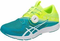 ASICS Women's GEL-451 Running Shoe, Flash Yellow/Lagoon, 10.