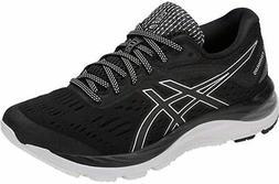 ASICS Women's Gel-Cumulus 20 Running Shoe, Black/White, 6 B